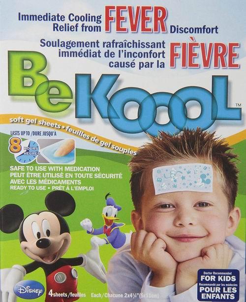 家庭必备!BeKoool 儿童物理退热贴 4片装 5.03加元热卖!