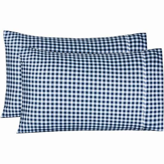 历史新低!AmazonBasics 格子纹 超细纤维枕套2件套5.5折 5.96加元!