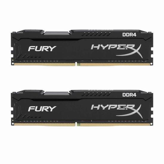 历史新低!Kingston 金士顿 HyperX Fury雷电系列 2666MHz DDR4 8GB(4G×2)台式机内存 49.99加元包邮!