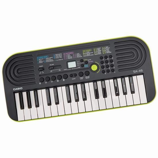 Casio 卡西欧 SA-46 32键 幼儿启蒙电子琴 39.99加元包邮!