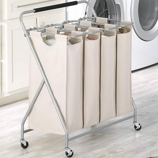 历史新低!Whitmor Easy-Lift 可移动式脏衣收纳架3.8折 38.81加元包邮!
