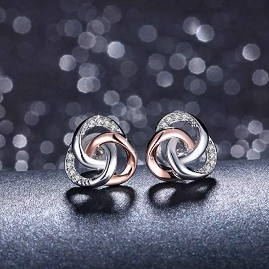 白菜价!J.Rosée Spiral Galaxy 纯银耳钉 9.99加元清仓!