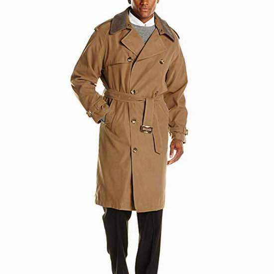 白菜价!London Fog 经典英伦风 男式双排扣风衣2.5折 64.66加元起包邮!多色可选!