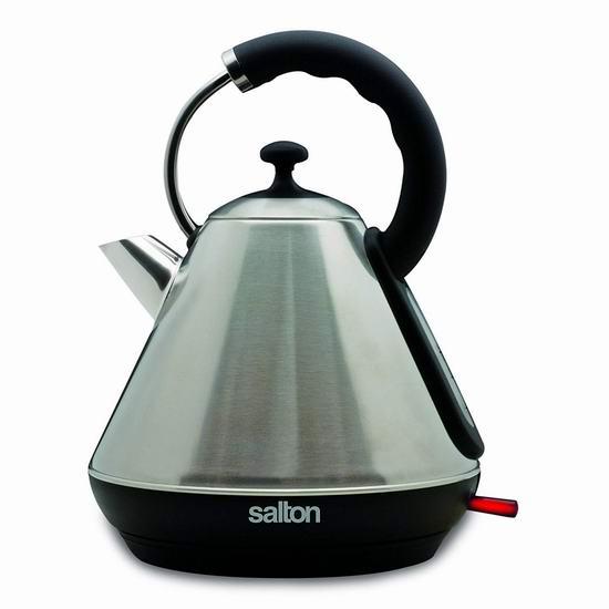 历史新低!Salton JK1565 1.8升 不锈钢复古电热水壶4.5折 29.88加元!