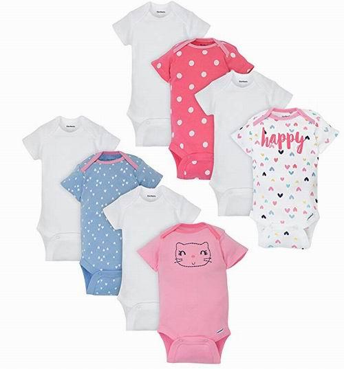 可爱又实惠!Gerber 纯棉婴儿服饰套装 8件 11.13加元,原价 52.94加元