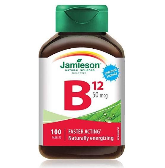 Jamieson 健美生维生素B12  提高人体精力 新陈代谢 抗脂肪肝 4.02加元(100片),原价 9.63加元