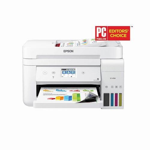 金盒头条:史低价!Epson EcoTank ET-4760 一体机彩色打印机 444.99加元,原价 592.15加元,包邮