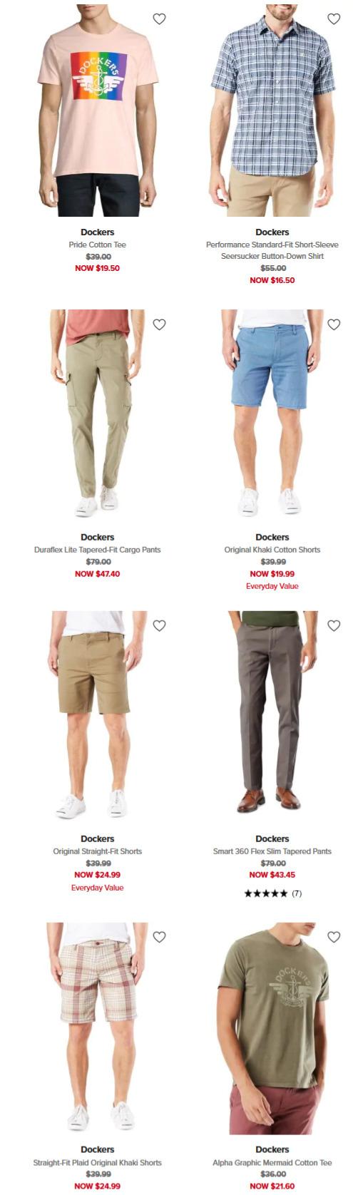 精选 Dockers 休闲男装、卡其裤 3折起+额外8折!时尚休闲两不误!