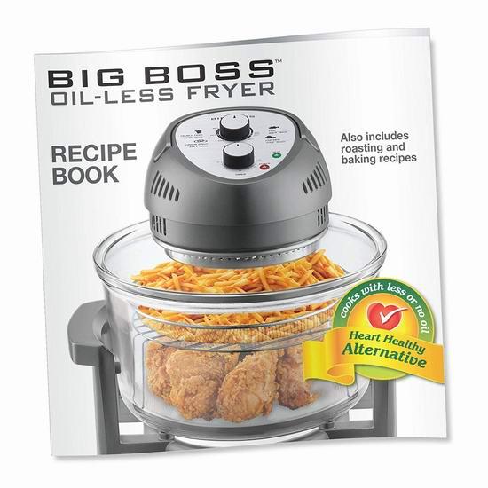 Big Boss 1300瓦高速无油空气炸锅 91.66-94.89加元包邮!5色可选!
