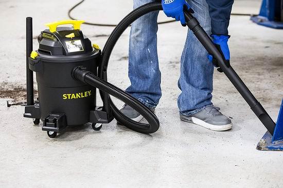 Stanley 史丹利 SL18116P 4马力 6加仑 干湿两用吸尘器3.4折 59.77加元包邮!