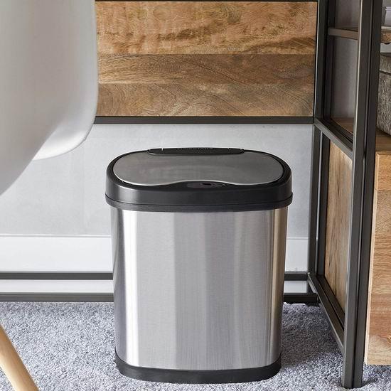 NINESTARS CB-DZT-50-13/12-13 12+50升 红外感应式不锈钢垃圾桶4.6折 91.99加元包邮!