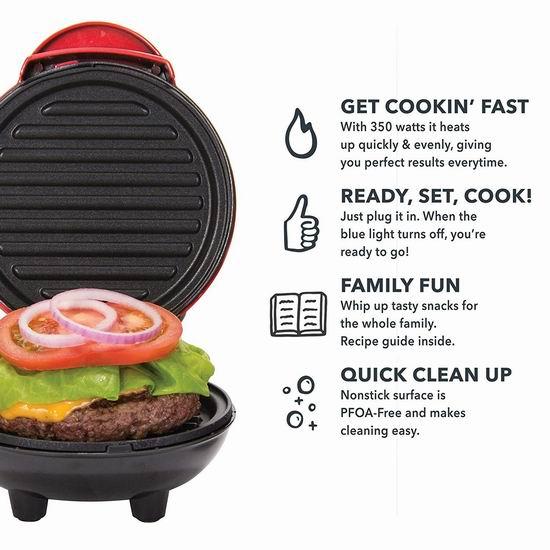 历史新低!Dash DMG001BK 迷你电烤炉5.3折 16.99加元!