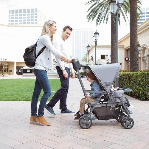 Joovy Caboose Graphite 超轻量级双人婴儿推车7.2折 239.97加元包邮!