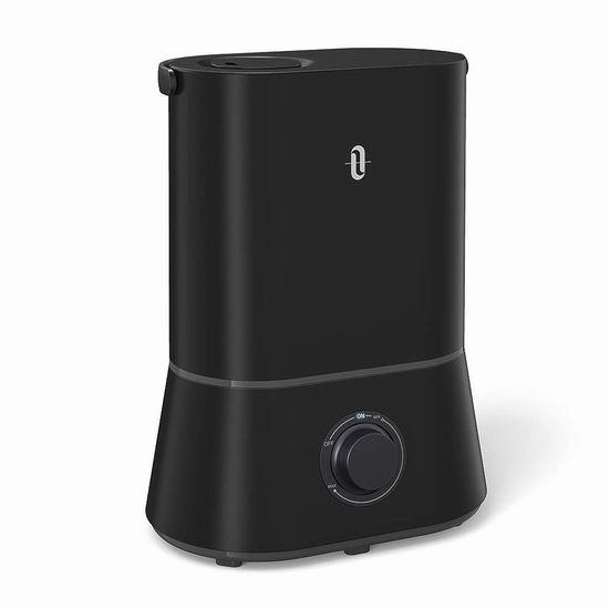金盒头条:TaoTronics 黑色款 4升大容量超声波雾化加湿器 42.33加元包邮!仅限今日!