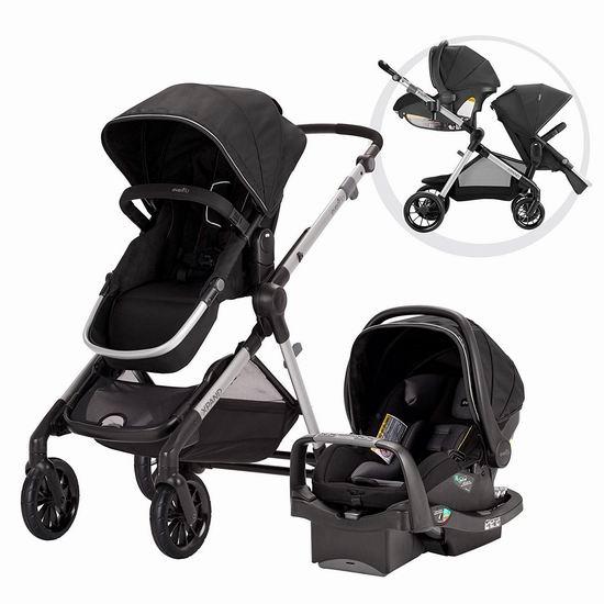 历史新低!Evenflo Pivot Xpand Modular 22模式 单人/双人 高景观婴儿推车+提篮安全座椅旅行套装 349.99加元包邮!