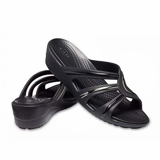 白菜价!Crocs Sanrah Metalblock 女式增高凉拖鞋2.1折 12.37加元清仓!