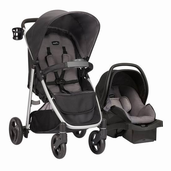 历史最低价!Evenflo FlipSide 婴儿推车+提篮安全座椅旅行套装4.4折 179.97加元包邮!