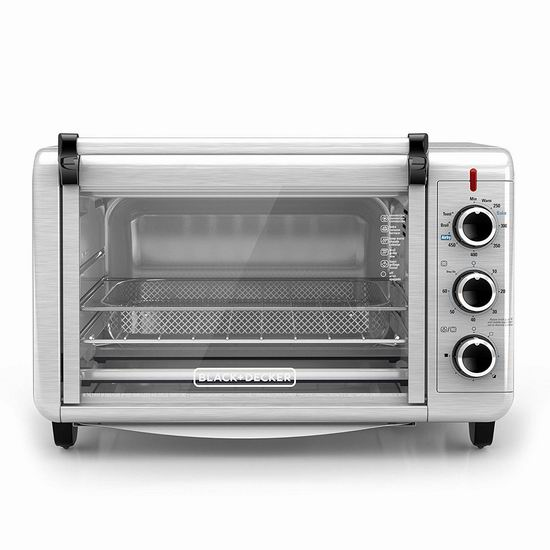 Black+Decker TO3215SSD Crisp N Bake 空气炸锅烤箱6.2折 79.98加元包邮!