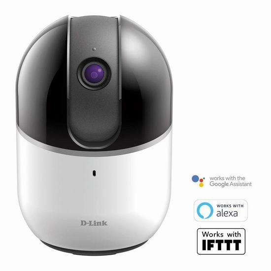 历史新低!新品 D-Link DCS-8515LH 无线云端监控摄影机5.4折 69.99加元包邮!