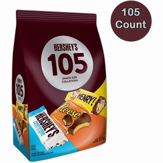 Hershey's 好时 巧克力糖果105支装 14.99加元!