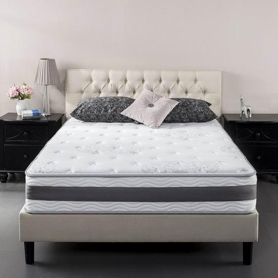 历史新低!Zinus 10英寸凝胶记忆海绵Twin床垫4.2折 180.59加元包邮!