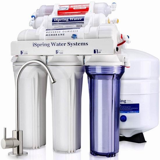 iSpring RCC7AK 6级反渗透 家用水过滤/矿泉水系统 253.36加元包邮!