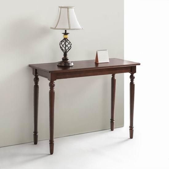历史新低!Zinus Bordeaux 实木门厅桌2.4折 58.81加元包邮!