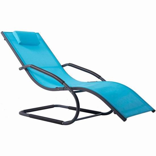 历史新低!Vivere WAVELNG1-OB Wave 庭院波浪躺椅3.1折 71.15加元包邮!