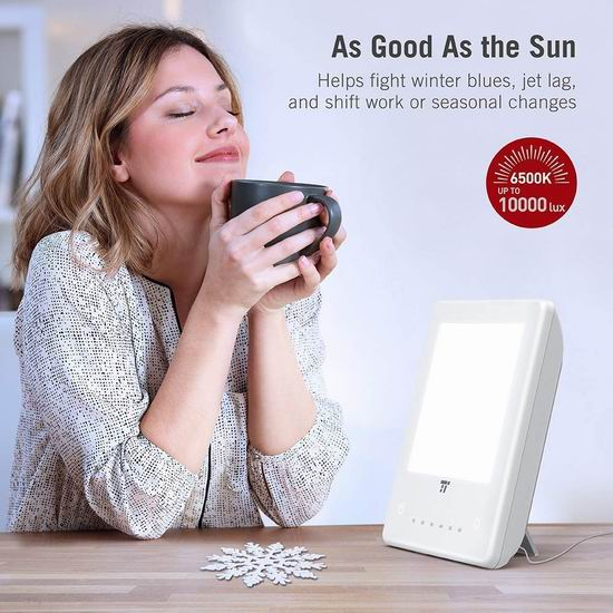 TaoTronics TT-CL011 10000 Lux 光疗情绪 光疗能量灯 39.99加元包邮!免税!