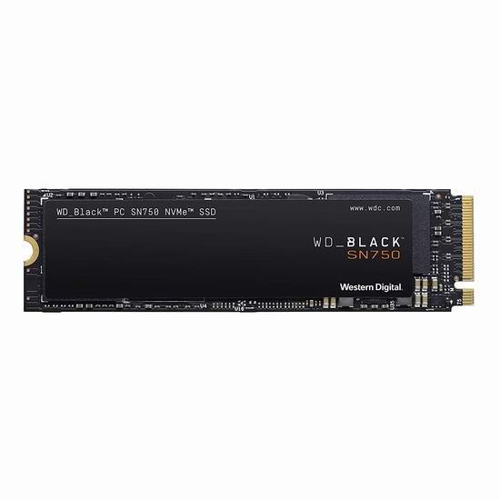 历史最低价!WD 西数 SN750 NVMe 500GB 固态硬盘 79.99加元包邮!
