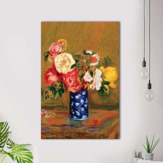 超级白菜!Eurographics 1751-1382 玫瑰花瓶 24x36英寸风景帆布装饰画1.3折 27.26加元清仓!