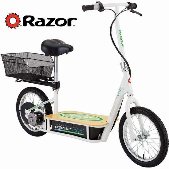 历史新低!Razor 13114501 EcoSmart Metro 电动滑板车5.7折 566.92加元包邮!