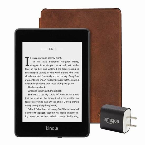 历史新低!全新 Kindle Paperwhite 6寸 防水护眼 电子书阅读器+保护皮套+充电器套装 184.97加元包邮!