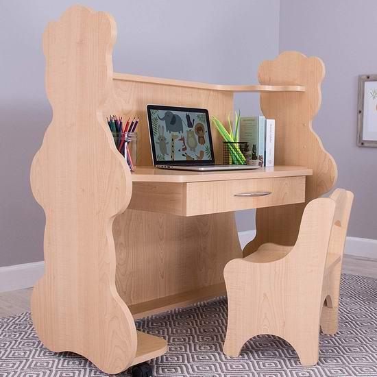 超级白菜!Ace Baby Furniture 高度可调 可移动 儿童书桌+椅子套装1.1折 90.67加元包邮!