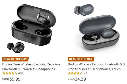 金盒头条:精选4款 Dudios 真无线 蓝牙耳机 30.39加元起!