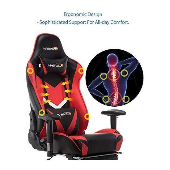 历史新低!WENSIX 人体工学 高靠背赛车办公椅/游戏椅 169.99加元包邮!5色可选!_加拿大打折网