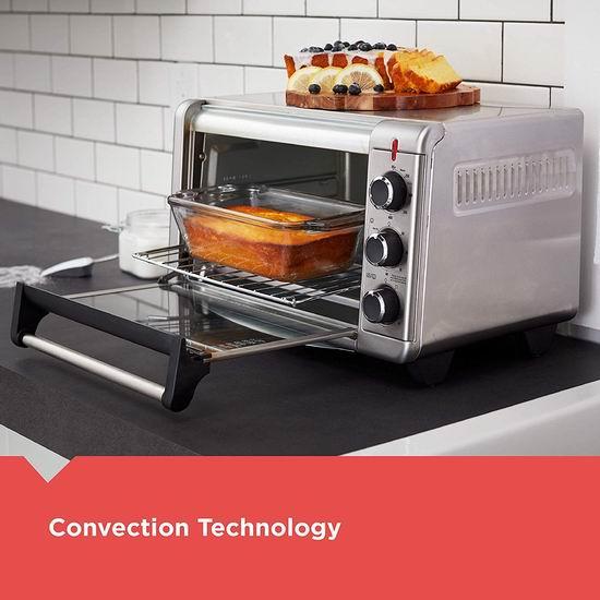 Black+Decker TO3215SSD Crisp N Bake 空气炸锅烤箱6.5折 84.98加元包邮!