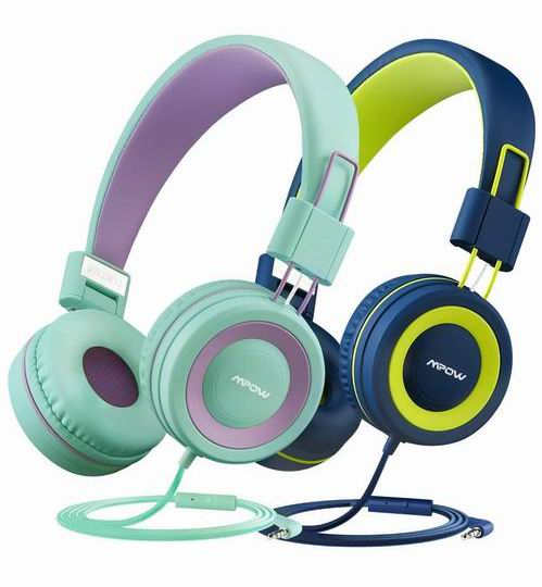 Mpow 儿童耳机2只装 8.5折 33.14加元,91dB音量限制全方面保护小朋友的耳朵