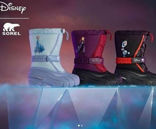 防寒又时尚!DISNEY X Sorel 合作款雪地靴 80加元起火热销售!
