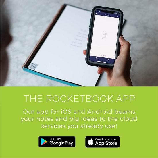 历史新低!Rocketbook Everlast  神奇智能笔记本 25.99-28.78加元!Letter/Executive两款可选!仅限蓝色!