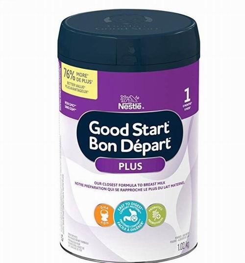 NESTLÉ 雀巢 GOOD START 1段/2段 DHA&ARA益生菌 婴儿配方奶粉(1.02公斤) 36.84-39.63加元包邮!会员价 32.54加元