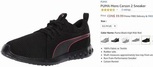 PUMA Carson 2 男士休闲鞋 39.99加元(11.5-13码),原价 77.99加元,包邮