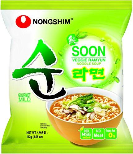 Nongshim 农心 NS02284S 素菜汤方便面4包  3.97加元(原价 6.39加元),3款可选!
