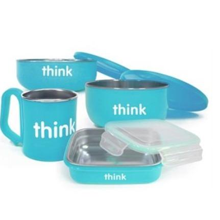 Thinkbaby儿童餐具套装、防晒、水杯 7折 11.86加元起特卖!42加元入封面款套装