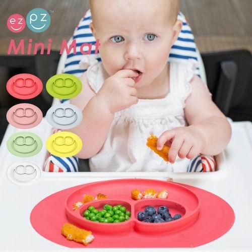 解决宝宝吃饭问题的神器!美国EZPZ儿童一体式餐垫盘、笑脸餐盘、水杯 、勺 8折 11.16加元起!