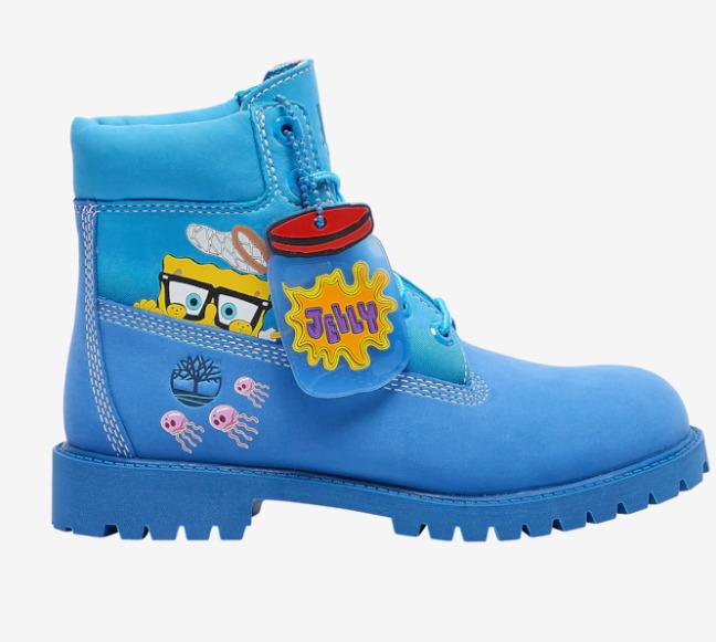 Timberland海绵宝宝合作系列 男款/儿童款服饰、防水靴 40-250加元热卖!充满童趣和玩味的涂鸦设计!