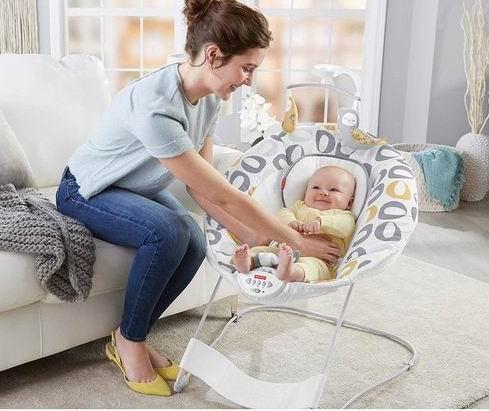 历史最低价!Fisher-Price 费雪 婴幼儿安抚摇摇椅 49.97加元(2款),原价 88.03加元,包邮