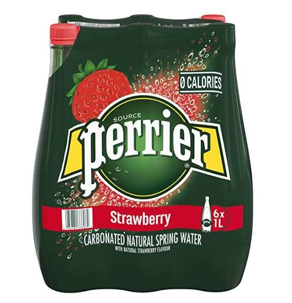 Perrier 天然含气矿泉水/巴黎水1升x6瓶 6.97加元,原价 9.56加元