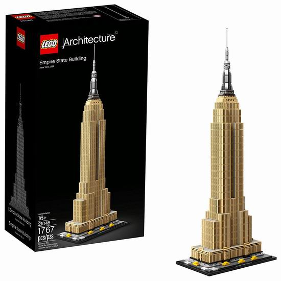 Lego 乐高 21046 建筑系列 帝国大厦(1767pcs) 7折 111.99加元包邮!