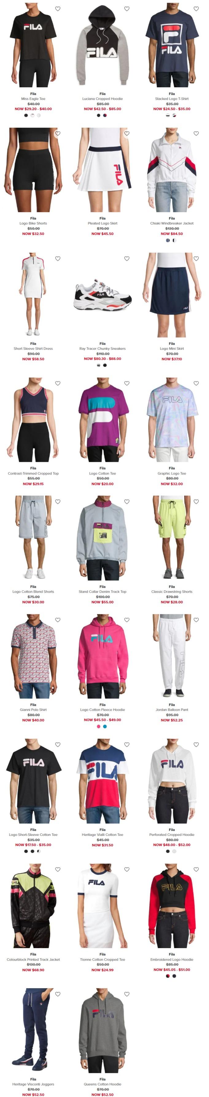 FILA 斐乐时尚卫衣、运动裤、运动鞋4折起+额外8折+全场包邮!